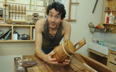 Restauration d'une boite en bois.